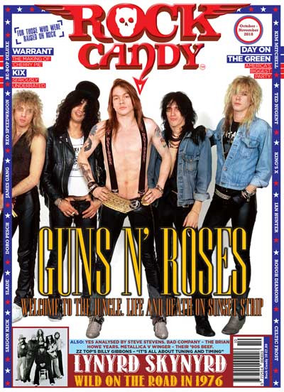 Featuring 16 pages uncovering Guns N' Roses early daze on Sunset Strip!