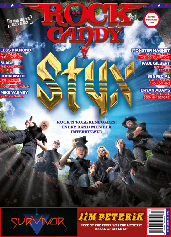 Issue 27 is available right now, featuring our massive 16-page Styx cover story that includes exclusive interviews with every band member.