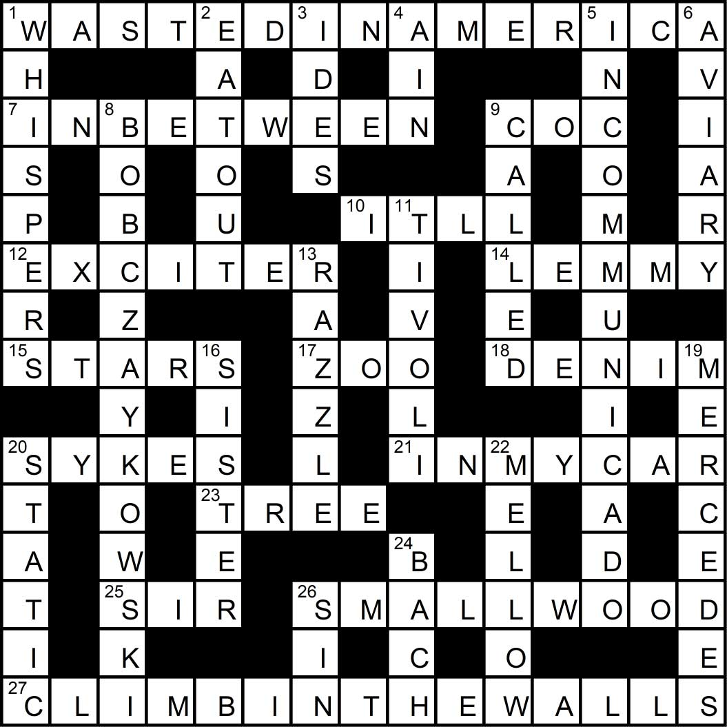 Crossword puzzle issue9