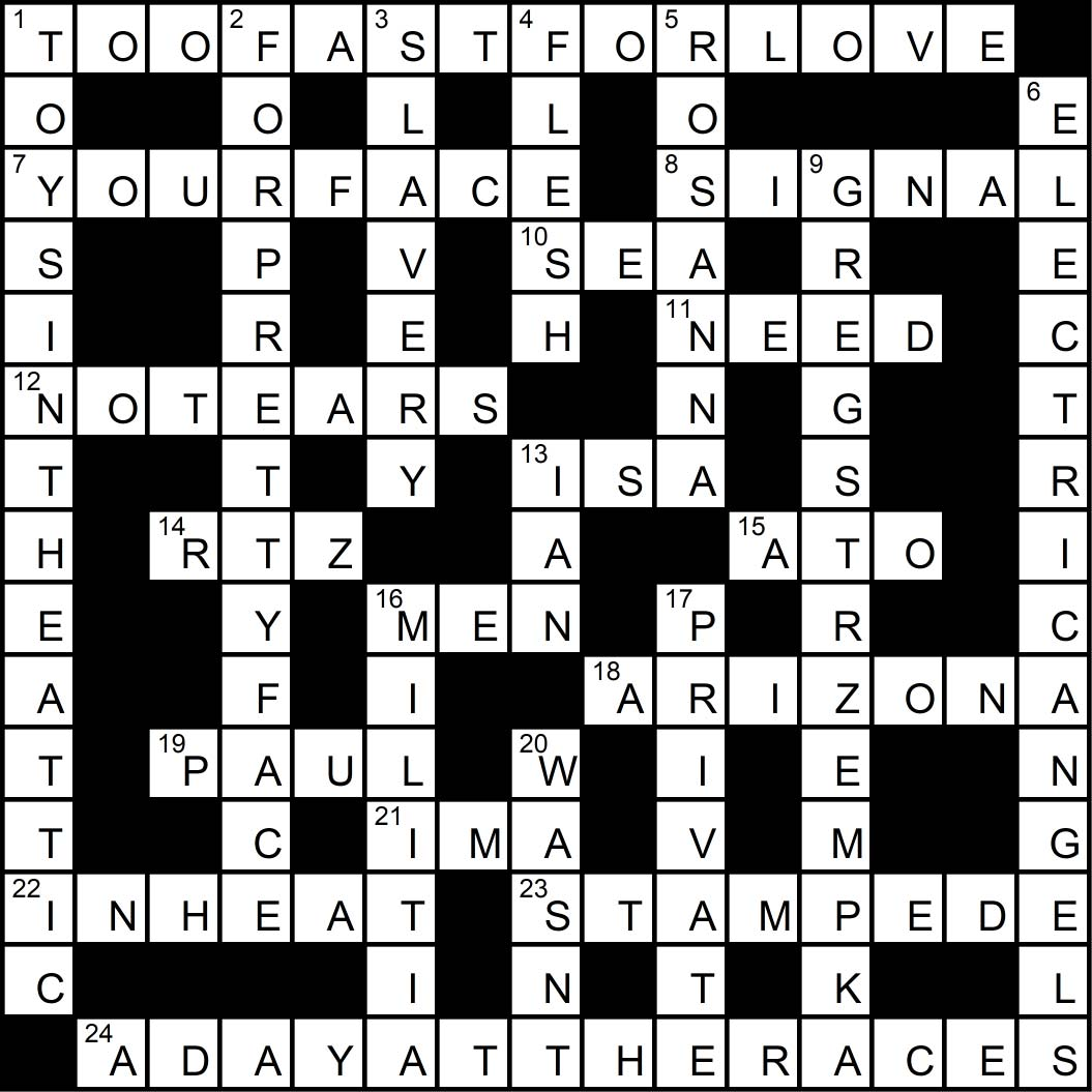 Crossword puzzle issue 3