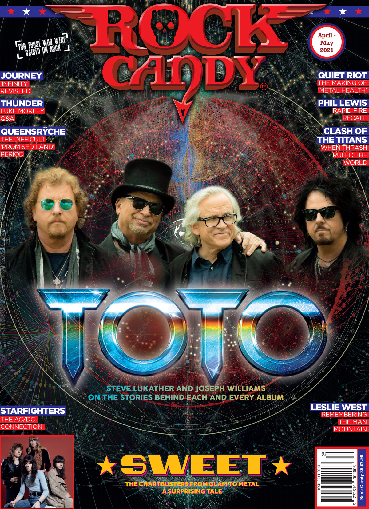 Issue 25 is available right now, featuring our 12-page monster Toto cover story